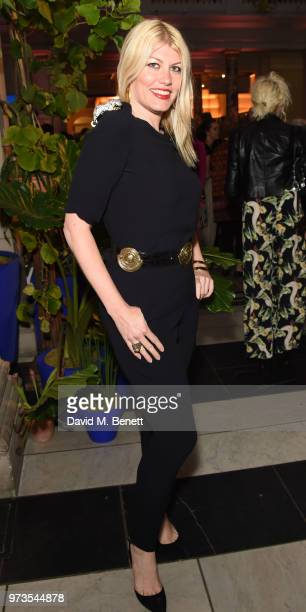Meredith Ostrom attends a private view of 'Frida Kahlo Making Her Self Up' at The VA on June 13 2018 in London England