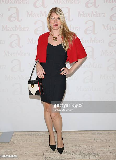 Meredith Ostrom attends Max Mara Spring/Summer 2016 Accessories Campaign Celebration at Four Seasons Restaurant on October 19 2015 in New York City