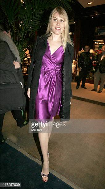 Meredith Ostrom during Ralph Lauren Private Party at Ralph Lauren New Bond Street in London March 21 2006 at Ralph Lauren New Bond Street in London...