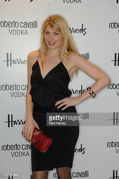 Meredith Ostrom during Roberto Cavalli Vodka Launch December 5 2006 at Harrod's in London Great Britain