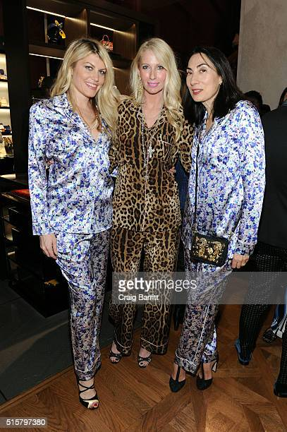 6febbf950eb271 Meredith Ostrom Mary Snow and Mary Snow attend Dolce Gabbana pyjama party  at 5th Avenue Boutique