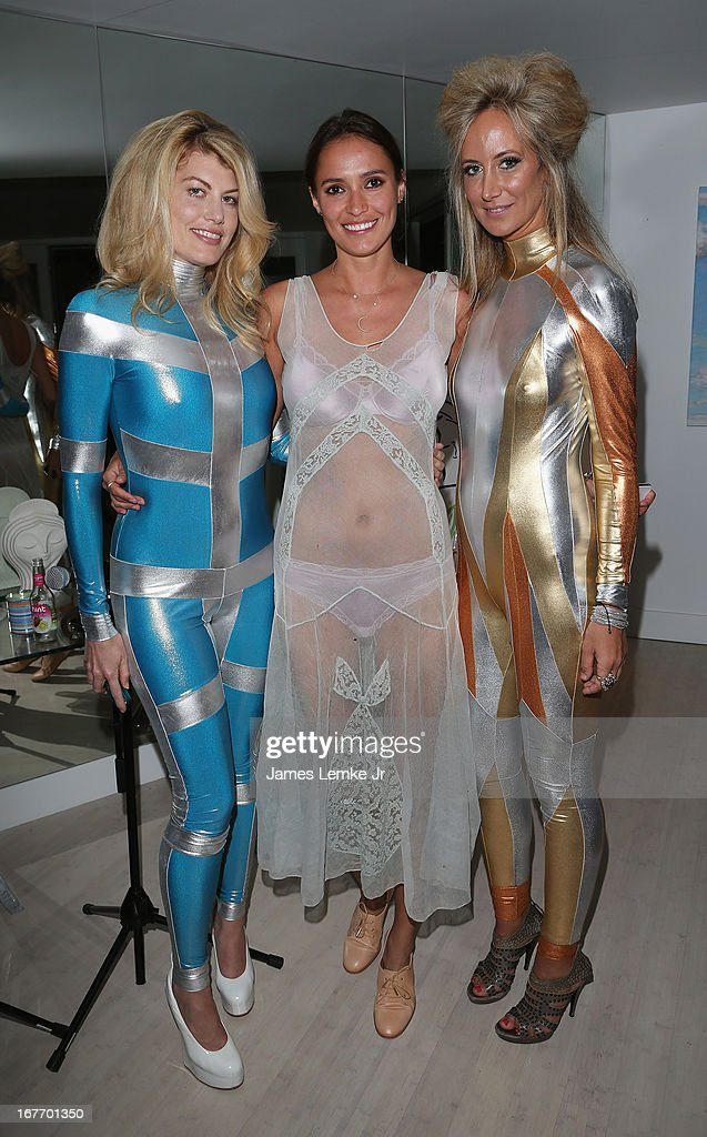 Meredith Ostrom, Sasha Volkova and Lady Victoria Hervey attend the Filmmaker and Genlux Magazine Fashion Editor Amanda Eliasch Hosts BritWeek 2013 Cocktail Party on April 27, 2013 in West Hollywood, California.