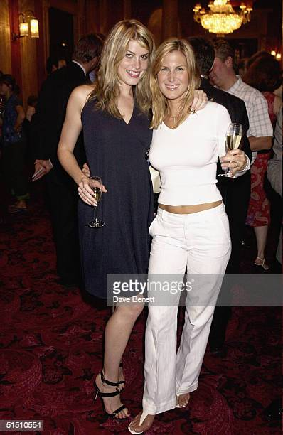Meredith Ostrum and Julienne Davis attend the Metis Physio Centre Launch Party at The Theatre Royal in Drury Lane on September 18 2003 in London