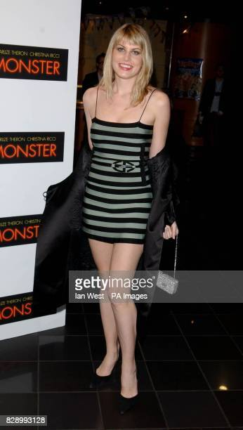 Meredith Ostrum girlfriend of Nick Rhodes arrives for the UK premiere of Monster at the Vue cinema in Leicester Square central London Monster tells...