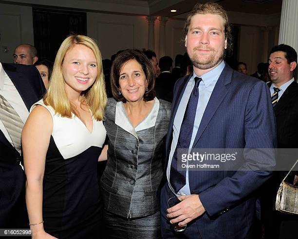 Meredith Pritt Sue Jacobson and Aaron Berman attend An Evening Honoring Joe Namath at The Plaza Hotel on October 20 2016 in New York City