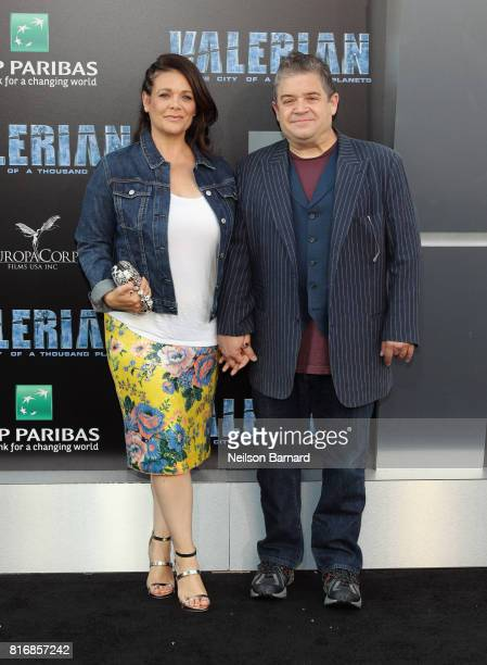 Meredith Salenger and Patton Oswalt attend the premiere of EuropaCorp and STX Entertainment's Valerian and The City of a Thousand Planets at TCL...