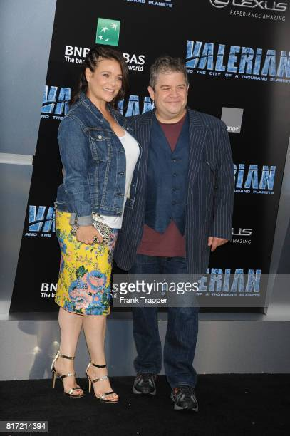 Meredith Salenger and Patton Oswalt attend the premiere of EuropaCorp and STX Entertainment's 'Valerian and The City of a Thousand Planets' held at...