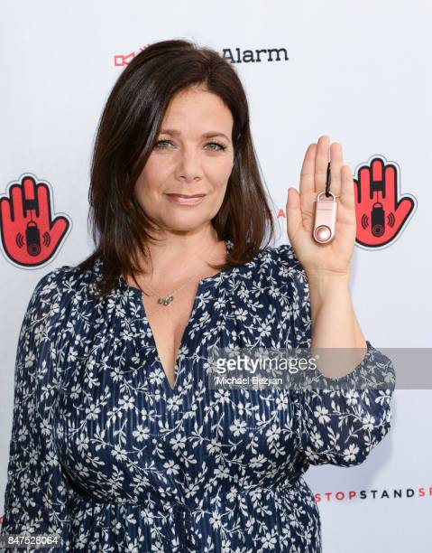 Meredith Salenger attends iMaxAlarm pledges to #StopStandSpeak against Street Harassment at the GBK Pilot Pen Pre Awards Celebrity Lounge 2017 Day 1...