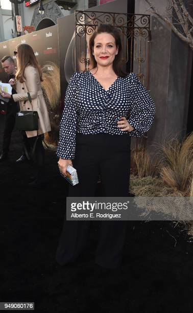 Meredith Salenger attends the season 2 premiere of Hulu's The Handmaid's Tale at the TCL Chinese Theatre on April 19 2018 in Hollywood California