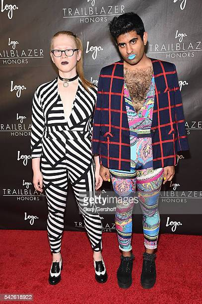 Meredith Talusan and Alok Vaid-Menon attends 2016 Logo's Trailblazer Honors at Cathedral of St. John the Divine on June 23, 2016 in New York City.