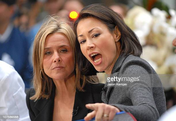 Meredith Vieira and Ann Curry during Meredith Vieira Makes Her Debut Appearance On 'The Today Show' September 13 2006 at Rockefeller Plaza