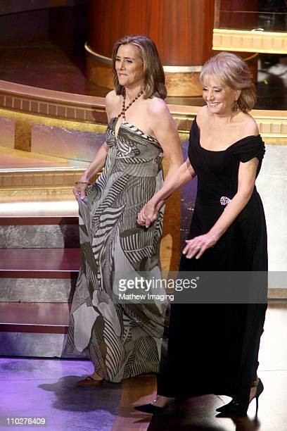Meredith Vieira and Barbara Walters presenters during 33rd Annual Daytime Emmy Awards Show at Kodak Theater in Hollywood California United States