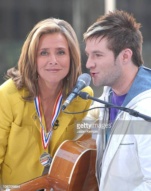 Meredith Vieira and Blake Lewis during Jordin Sparks and Blake Lewis Visit The Today Show May 31 2007 at Rockefeller Center in New York City New York...