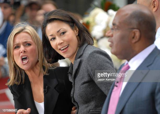 Meredith Vieira Ann Curry and Al Roker during Meredith Vieira Makes Her Debut Appearance On 'The Today Show' September 13 2006 at Rockefeller Plaza