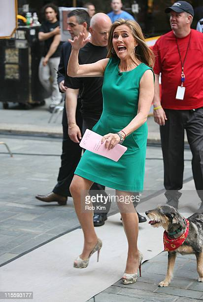 Meredith Vieira attends her last day on NBC's Today Show at Rockefeller Plaza on June 8 2011 in New York City