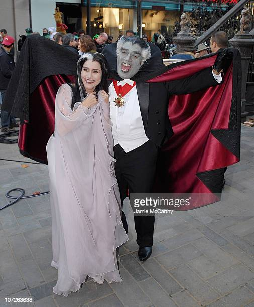 "Meredith Vieira Dressed as Lilian Munster and Al Roker dressed as Grandpa Munster on the Halloween Edition of NBC's ""Today"" Show Halloween Monster..."