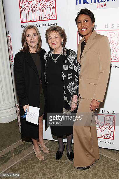 Meredith Vieira Matilda Cuomo and Robin Roberts attend the The Person Who Changed My Life Prominent People Recall Their Mentors book launch party at...