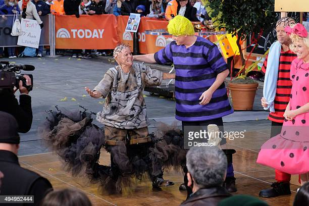 """Meredith Vieira, Willie Geist, Carson Daly, and Savannah Guthrie attend NBC's """"Today"""": Spooktacular Costume Party at Rockefeller Plaza on October 30,..."""