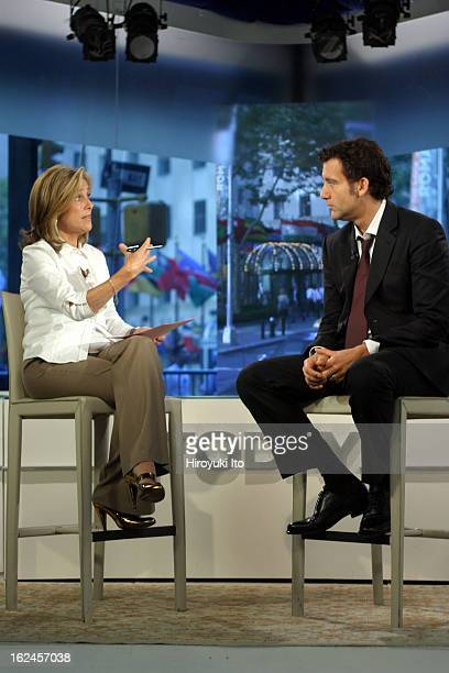 Meredith Viera in NBC's The Today Show on Wednesday morning September 5 2007This imageMeredith interviewing the actor Clive Owen