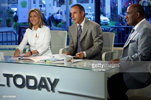 Meredith Viera in NBC's The Today Show on Wednesday morning September 5 2007This imageMeredith Viera with the coanchor Matt Lauer center and the...