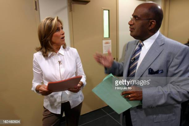Meredith Viera in NBC's The Today Show on Wednesday morning September 5 2007This imageMeredith Viera and the weather anchor Al Roker in the hallway...