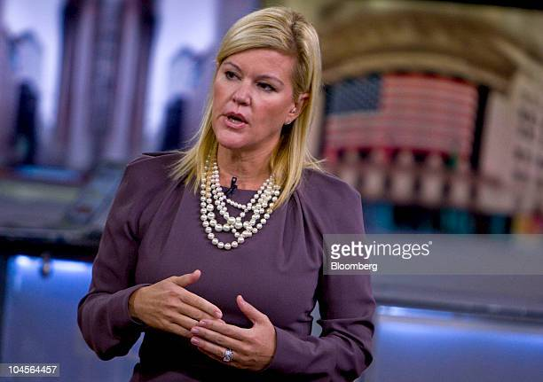 Meredith Whitney banking analyst and founder of Meredith Whitney Advisory Group LLC speaks during a television interview in New York US on Thursday...
