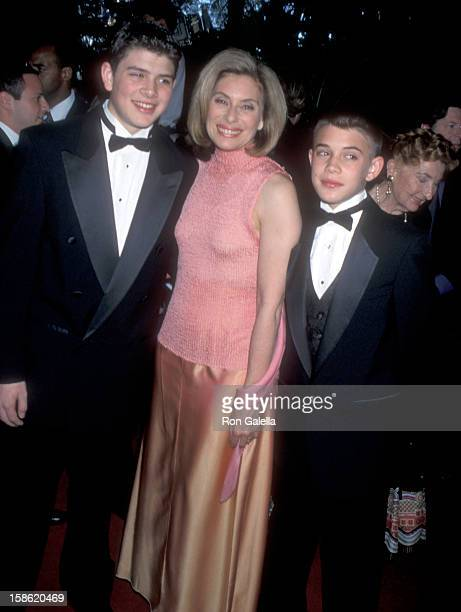 Merel Poloway and sons Raul Sigmund Julia and Benjamin Julia attend the Fourth Annual Raul Julia Ending Hunger Fund Benefit Gala on April 30 2000 at...