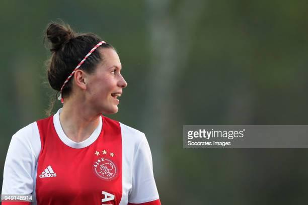 Merel van Dongen of Ajax Women during the Dutch Eredivisie Women match between Ajax v Fc Twente at the De Toekomst on April 20 2018 in Amsterdam...