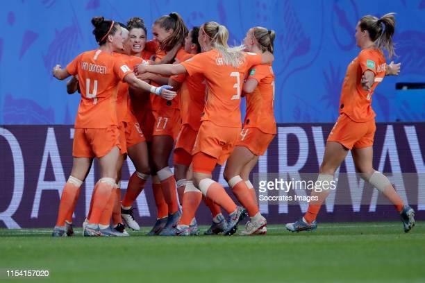 Merel van Dongen of Holland Women, Dominique Bloodworth of Holland Women, Lieke Martens of Holland Women, Danielle van de Donk of Holland Women,...