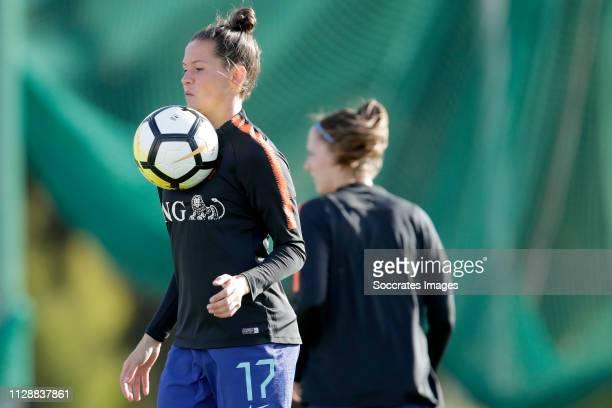 Merel van Dongen of Holland Women during the Algarve Cup Women match between China PR v Holland at the Estadio Municipal de Albufeira on March 6,...