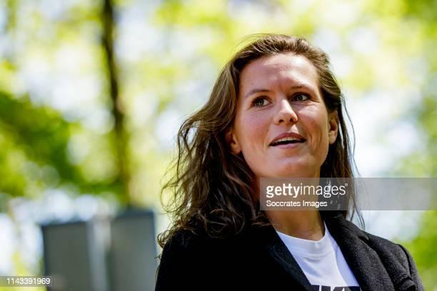 Merel van Dongen of Holland Women during the Arrival Holland Women at the Campus at the KNVB Campus on May 13 2019 in Zeist Netherlands