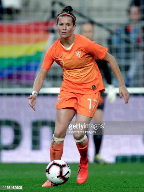 Merel van Dongen of Holland Women during the International Friendly Women match between Holland v Chile at the AFAS Stadium on April 9 2019 in...