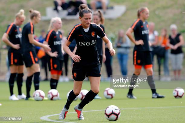 Merel van Dongen of Holland Women during the Training Holland Women at the KNVB Campus on August 28 2018 in Zeist Netherlands