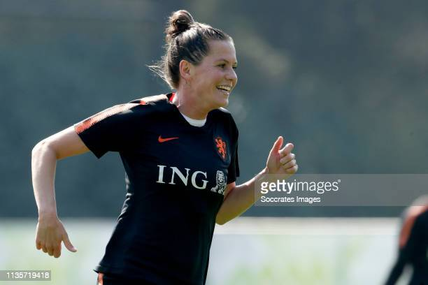 Merel van Dongen of Holland Women during the Training Holland Women at the KNVB Campus on April 7 2019 in Zeist Netherlands