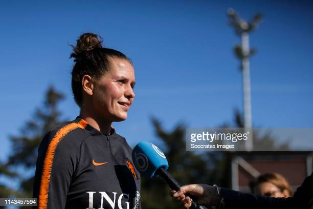 Merel van Dongen of Holland Women during the Training Holland Women at the KNVB Campus on May 13 2019 in Zeist Netherlands