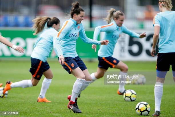Merel van Dongen of Holland Women during the Training Holland Women at the KNVB Campus on April 3 2018 in Zeist Netherlands