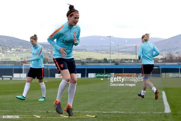 Merel van Dongen of Holland Women during the Training Holland Women at the Tallaght Stadium on April 9 2018 in Dublin Ireland
