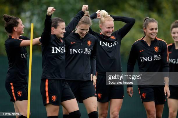 Merel van Dongen of Holland Women, Sherida Spitse of Holland Women, Vivianne Miedema of Holland Women, Danique Kerkdijk of Holland Women, Lieke...