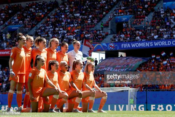 Merel van Dongen of Holland Women, Vivianne Miedema of Holland Women, Lieke Martens of Holland Women, Dominique Bloodworth of Holland Women, Danielle...