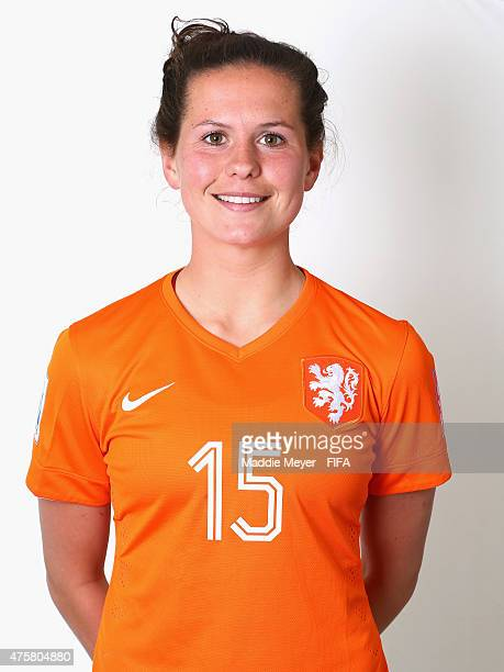 Merel Van Dongen of Netherlands during the FIFA Women's World Cup 2015 portrait session at the Delta Edmonton South on June 3 2015 in Edmonton Canada