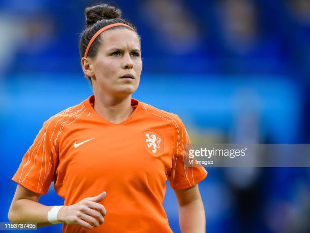 Merel van Dongen of Netherlands women during the FIFA Women's World Cup France 2019 semi final match between The Netherlands and Sweden of America at...