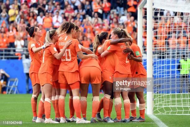 Merel van Dongen of Netherlands women, Jackie Groenen of Netherlands women, Dominique Bloodworth of Netherlands women, Vivianne Miedema of...