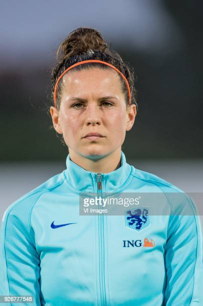 Merel van Dongen of the Netherlands women during the Algarve Cup 2018 match between the Netherlands and Denmark at the Complexo Desportivo Municipal...