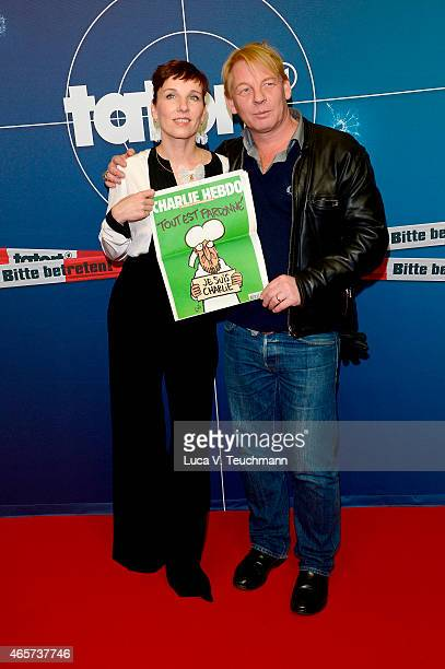 Meret Becker and Ben Becker attend 'Tatort Das Muli' Berlin Premiere at Babylon on March 9 2015 in Berlin Germany