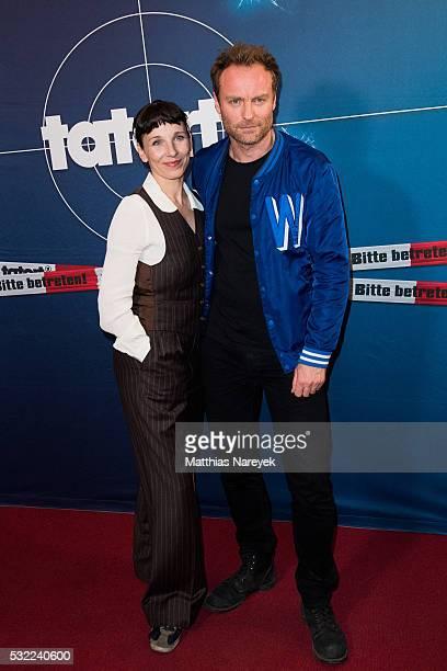 Meret Becker and Mark Waschke during the 'Tatort Wir Ihr Sie' Premiere at Filmkunst 66 on May 18 2016 in Berlin Germany