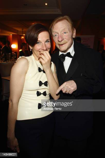Meret Becker and Otto Sander attend the Lola German Film Award 2012 Party at FriedrichstadtPalast on April 27 2012 in Berlin Germany