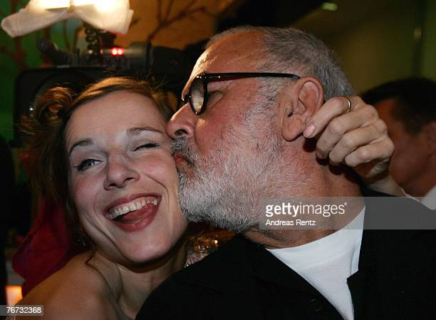 Meret Becker and star coiffeur Udo Walz attend the annual Bertelsmann party on September 13 2007 in Berlin Germany