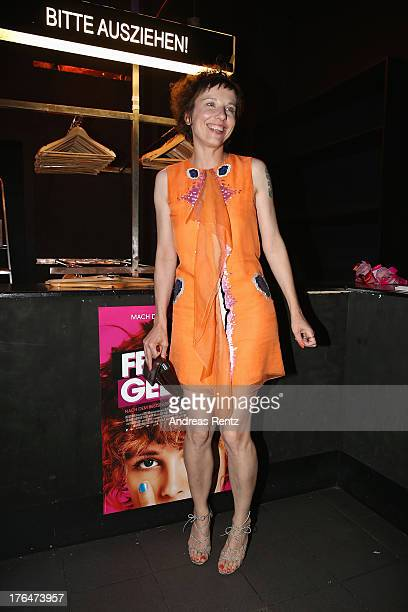 Meret Becker attends 'Feuchtgebiete' Germany Premiere after show party at Gretchen on August 13 2013 in Berlin Germany