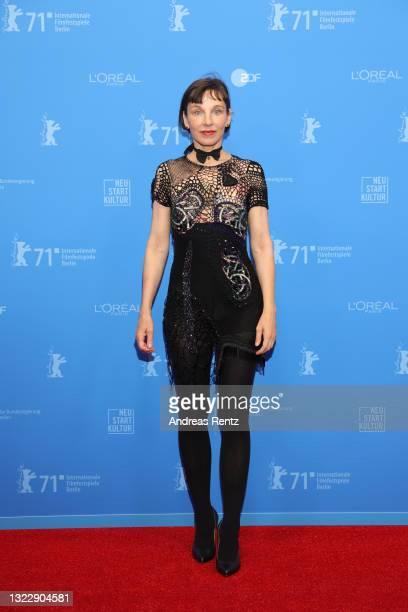 """Meret Becker attends the """"Fabian oder Der Gang vor die Hunde"""" premiere during the 71st Berlinale International Film Festival Summer Special at..."""