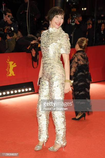 Meret Becker attends the The Kindness Of Strangers premiere during the 69th Berlinale International Film Festival Berlin at Berlinale Palace on...